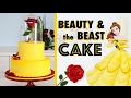EASIEST Beauty & the Beast Cake 🌹How to make a Princess Wedding Cake! ♥️