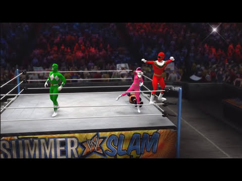 WWE '13: Power Rangers ZEO vs Triple H, Kevin Nash & X-Pac (The Kliq)