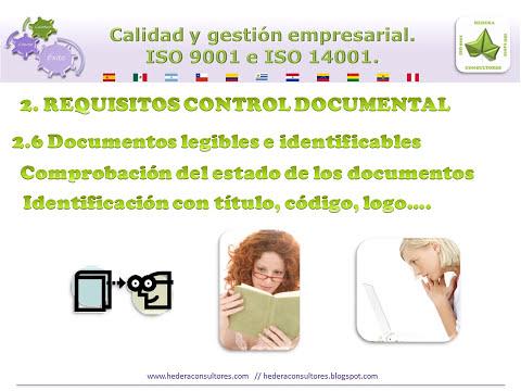 Control de documentos de un sistema de gestión de la calidad. ISO 9001 (Req. 4.2.3)