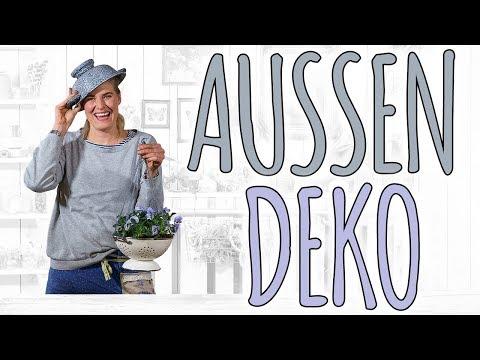 AUSSEN DEKO - UPCYCLING FÜR DEN FRÜHLING - DIY