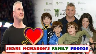 wwe Shane McMahon's wife and kids family photos