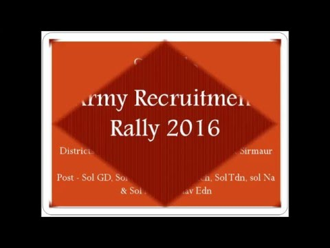 Indian Army Recruitment Rally may 2016
