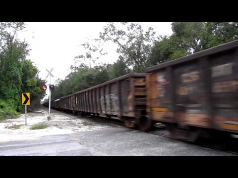 [HD] Chasing CSX K929 to Brooksville, FL - Thursday October 25, 2012