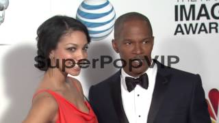 Jamie Foxx, Corrine Foxx at 44th NAACP Image Awards - Arr...