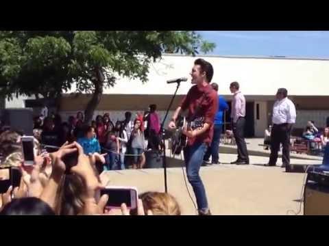 Drake Bell - I Found A Way Live at Clovis West High School