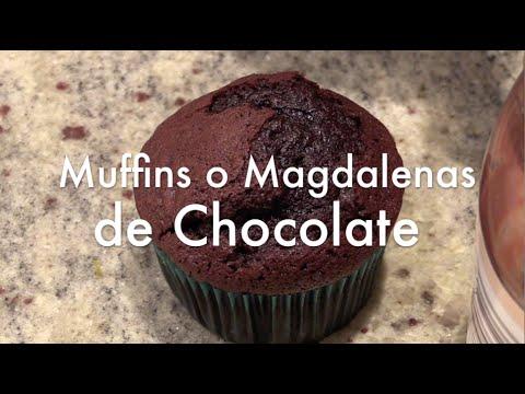 Muffins o Magdalenas de Chocolate para Cupcakes