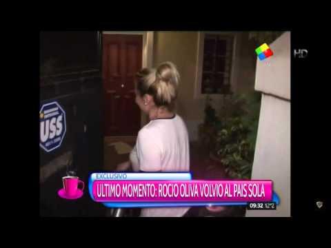 Rocío Oliva regresó al país: ¿boda o pelea?