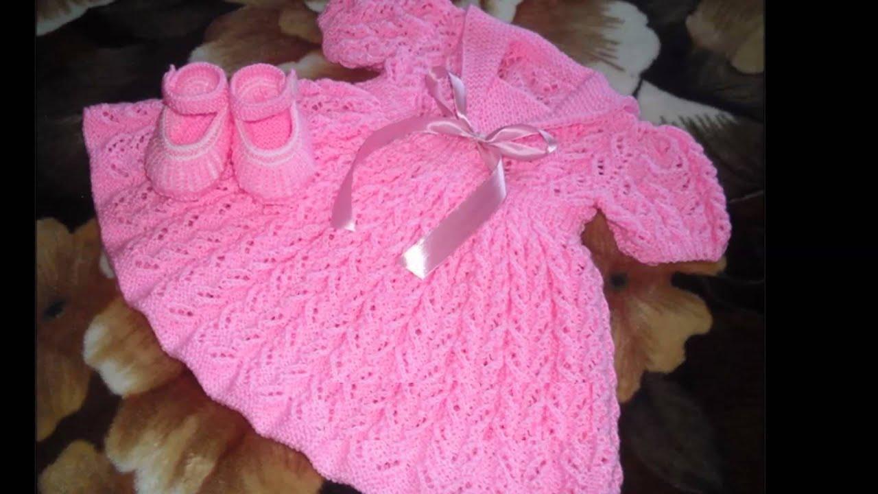 ver vestidos tejidos de bebe