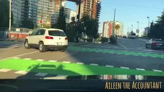EVO POV Driving fr. DT Vancouver to Mt. Cypress, via Lions Gate Bridge & Stanley Park. Time-lapse.