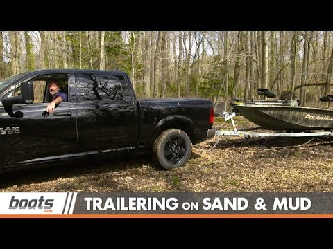 Trailering. Launching. and Retrieving a Boat on Sand and Mud