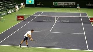 Roger Federer Practice 2017 BNP Paribas Open Indian Wells