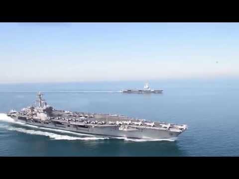 USS Carl Vinson & FS Charles de Gaulle in the Northern Arabian Gulf