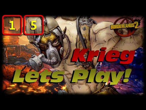 Borderlands 2 Krieg Lets Play Ep 15! Underleveled In The Wildlife Preserve Is Not Good!!!