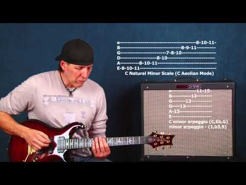Fretboard navigation rock guitar lesson connect scales arpeggios learn to jam improv ideas pt3