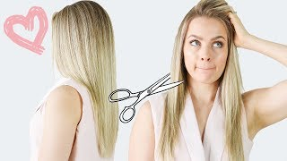 How I Cut My Hair (My long layer haircut) - KayleyMelissa