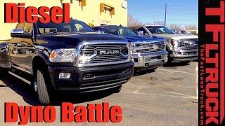 2017 Chevy Duramax vs. Ford Power Stroke vs. Ram Cummins: HD Diesel Dyno Battle
