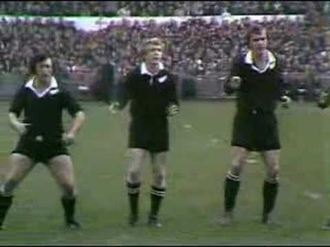 New Zealand's Haka from 1973 in Cardiff