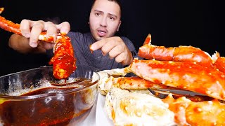 HUGE KING CRAB LEGS MUKBANG | Trying Bloves SAUCE