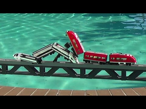 Lego Trains Crashes On A Bridge And More Compilations video