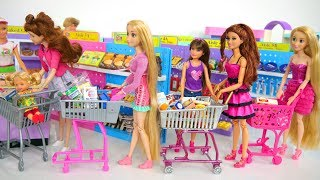 Barbie Doll Supermarket Grocery Shopping Poupée Supermarché Lebensmittel Einkaufen باربي محل بقالة