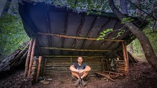 Bushcraft Super Shelter - Survival Camp 2.0 Lager Lagerbau - Deutschland deutsch #005