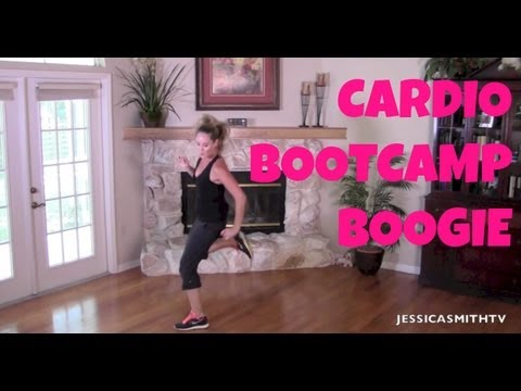Burn Fat, Burn Calories, Aerobic, Full Length Workout Video: 25-minute Cardio Bootcamp Boogie video