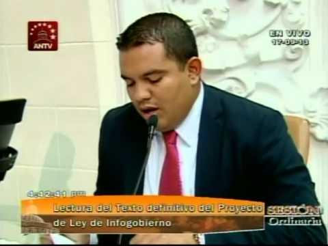 Lectura final y sanción de la Ley de Infogobierno (Software Libre y e-gob en Venezuela)