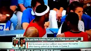 Wade Yells at LeBron (on camera)