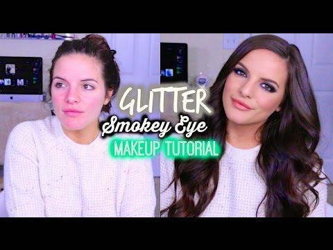 Glitter Smokey Eye Makeup Tutorial
