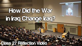 """How Did the War in Iraq Change Iraq?"" #Soc119"