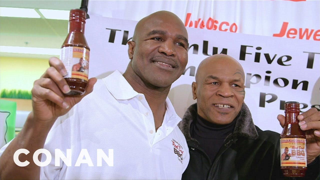 Mike Tyson Surprises Evander Holyfield At The Grocery Store Youtube