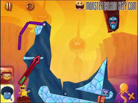 Monster Island Frozen Mellow Level 16 Walkthrough