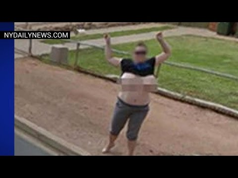 Police: Australian woman flashed Google Street View car