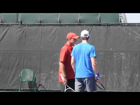 Andy Murray with Ivan Lendl at the Sony Ericsson Open