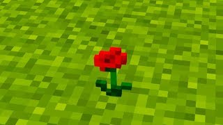 giving my wife flowers but in minecraft...