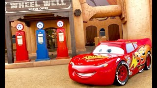 Disney Cars in Real Life - Let's Meet our Favorite Disney Cars - Tour of Art of Animation Resort