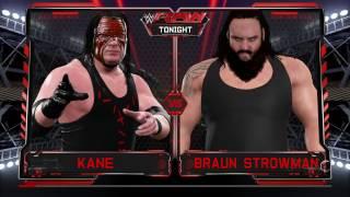 WWE 2K17 Kane VS Braun Strowman In A Backstage Brawl