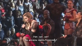 MADONNA - SPANISH - GOOD, ENGLISH - NO [РУССКИЕ СУБТИТРЫ][SBTV_RUSSIA]