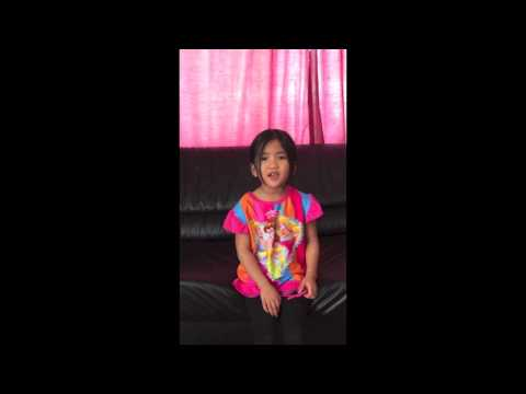 5 year old Sofia singing ' Do you want to build a Snowman ' from the movie Frozen