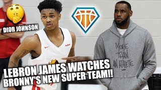 LEBRON WATCHES #1 POINT GUARD GET BUCKETS!! | Dior Johnson TEAMS UP with Bronny & Skyy in EYBL