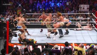 John Cena immediately makes an impact when he enters the Royal Rumble Match: Royal Rumble 2013