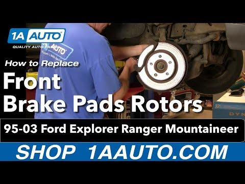 How To Install Replace Front Brake Pads Rotors Ford Explorer Ranger Mountaineer 4x4 95-03 1AAuto.com