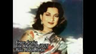 Yeh Chand Sitare Kya Janen-Suraiya-Khubsurat (1952).flv