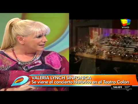 Valeria Lynch adelantó lo que será su show sinfónico en el Colón