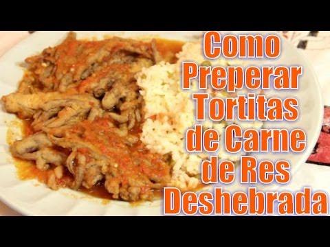 Tortitas de Carne de Res Deshebrada - Recetas en Casayfamiliatv