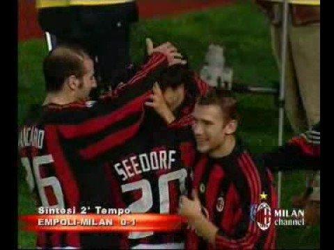 Milan-Empoli goal spettacolare di kakà dai 30 m