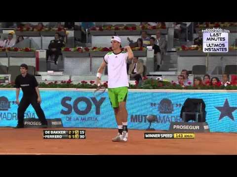 [HD] Thiemo De Bakker vs Juan Carlos Ferrero R1 MADRID 2011 [Last Minutes]