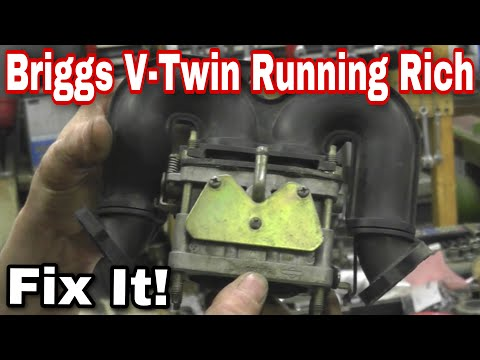 How To Repair a Briggs V Twin Intek Nikki Carburetor Running Too Rich