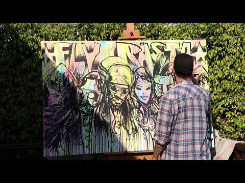 Jim Mahfood paints to Ziggy Marley's
