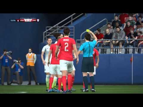 FIFA 16 - USA vs. England Women''s International Friendly Gameplay